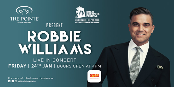 Robbie Williams Dubai Tickets